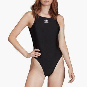 ADIDAS Black Trefoil Logo One Piece Swimsuit NEW